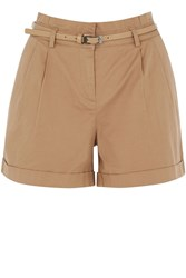 Oasis Casual Belted Short Tan