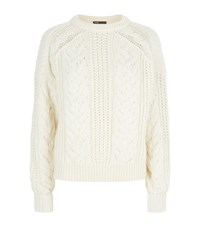 Maje Maxime Cable Knit Jumper Female Cream