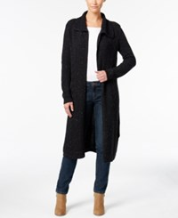Styleandco. Style Co. Cable Knit Duster Cardigan Only At Macy's Deep Black