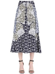Stella Mccartney Embroidered Silk Crepe De Chine Skirt