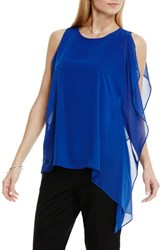Women's Vince Camuto Sleeveless Top With Asymmetrical Chiffon Overlay Casbah Blue