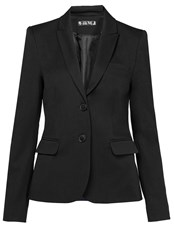 Hallhuber Flat Woven Fabric Business Blazer Black