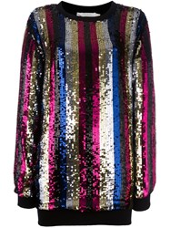 Amen Striped Paillette Jumper Multicolour
