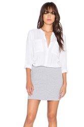 Splendid Button Up Shirt Dress White