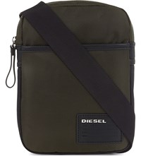 Diesel Fuzzy Cross Body Bag Green