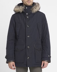 Hackett Navy Expedition Removable Blue Lining Goose Down Parka