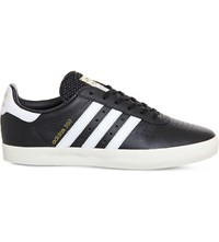 Adidas Spezial 350 Leather Trainers Black Off White Gold
