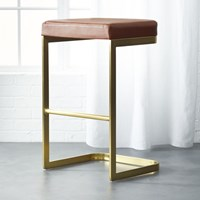 Cb2 Mack Leather 30 Bar Stool