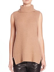 Vince Directional Ribbed Turtleneck Sweater Off White