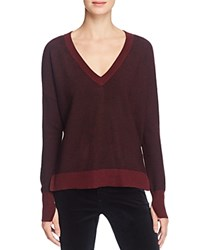 Rag And Bone Jean Taylor V Neck Sweater Port