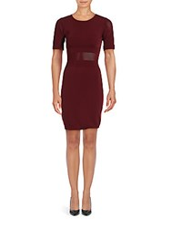 Alexia Admor Solid Half Sleeve Sheath Dress Burgundy