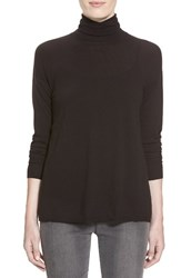 Women's J Brand Ready To Wear 'Clinton' Sheer Back Turtleneck Sweater Black