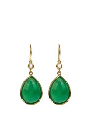 Irene Neuwirth Diamond Chrysoprase And Yellow Gold Earrings Green