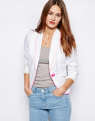 Wal G Blazer With Contrast Lace Trim
