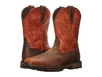 Ariat Groundbreaker Wide Square Toe St Brown Ember Cowboy Boots