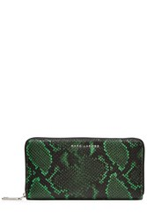 Marc Jacobs Snake Print Leather Wallet Green