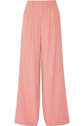Alice Olivia Eloise Crepe Wide Leg Pants Antique Rose