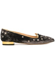 Charlotte Olympia 'Century Kitty' Ballerinas Brown