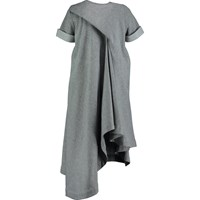 Scottacus Anthony Draped Back Dress Black Grey Silver