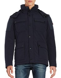 Strellson Cassey Quilted Lining Utility Coat Dark Blue