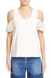 Women's See By Chloe Cold Shoulder Tank Pearled Ivory