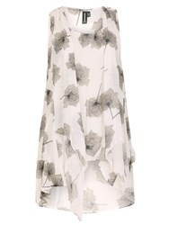 Izabel London Floral Tunic Dress With Front Tie Multi Coloured