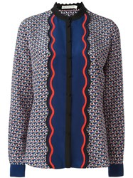 Mary Katrantzou 'Mica' Small Hearts Blouse Multicolour