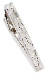 Lanvin Men's Textured Metal Tie Bar Silver