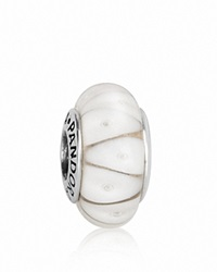 Pandora Design Pandora Charm Murano Glass And Sterling Silver White Looking Glass Moments Collection White Silver