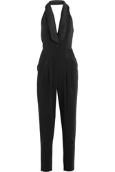 Alice By Temperley Alice Satin Trimmed Twill Jumpsuit Black