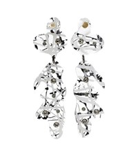 Christopher Kane Crystal Embellished Transparant Earrings White
