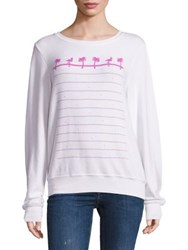 Wildfox Couture Animal Style Roundneck Sweatshirt Clean White