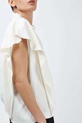 Draped Shoulder Top By Boutique Champagne