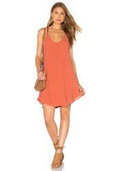 Lucca Couture Round Hem Tank Dress Burnt Orange