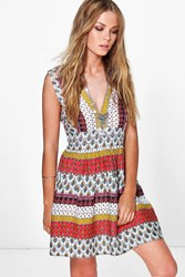 Boohoo Boutique Beaded Sundress Multi