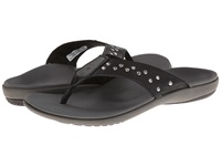 Spenco Crystal Thong Black Women's Toe Open Shoes