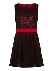 Mela Loves London Lace Contrast Prom Dress Black