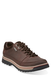 Clarks 'Ripway Edge' Waterproof Sneaker Men Dark Brown Leather