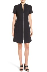 Ming Wang Women's Zip Front A Line Ponte Dress