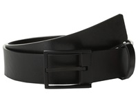 Calvin Klein 35Mm Flat Strap Smooth Semi Shine Leather Black Men's Belts