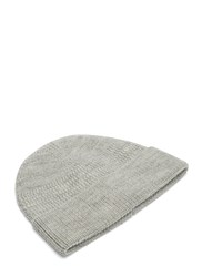 Lanvin Zigzag Ribbed Beanie Hat Grey