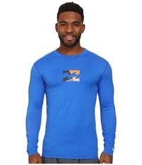Billabong Chronicle L S Rashguard Royal 1 Men's Swimwear Multi