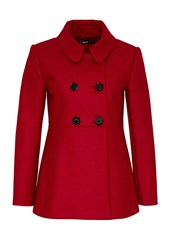 Hallhuber Woolen Caban Jacket Red