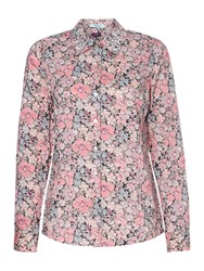 Dickins And Jones Liberty Gemma Print Embellished Shirt Pink