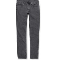 Saint Laurent Slim Fit 17Cm Hem Stretch Denim Jeans Gray
