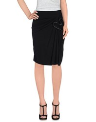 Plein Sud Jeans Skirts Knee Length Skirts Women Black