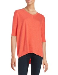 Eileen Fisher Cotton And Cashmere Sweater Orange