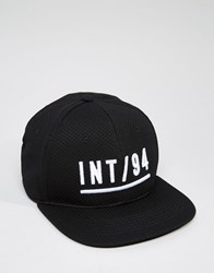 Asos Snapback Cap With Embroidered Logo Black