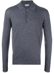 Canali Longsleeved Polo Shirt Grey