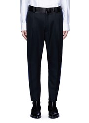 Haider Ackermann Ribbon Stripe Outseam Fleece Wool Pants Black